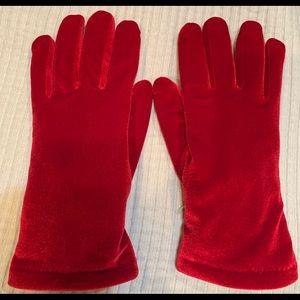 Cejon Accessories - Cejon Chevron Velvet Touchscreen Gloves Red NWOT